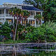 Lowcountry Home On The Wando River Art Print