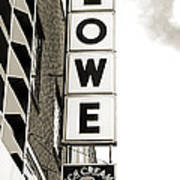 Lowe Drug Store Sign Bw Art Print by Andee Design