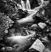 Lower Bridal Veil Falls 3 Bw Art Print