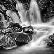 Lower Bridal Veil Falls 5 Bw Art Print