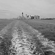Lower New York In Black And White Art Print