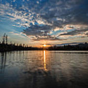 Lower Sunset Lake Art Print