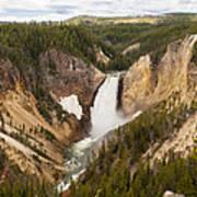 Lower Yellowstone Canyon Falls Art Print