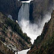 Lower Yellowstone Falls 02 Art Print