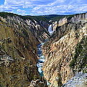 Lower Yellowstone Falls Panorama Art Print
