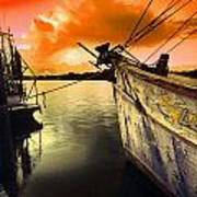 Lsu Shrimp Boat Art Print