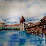 Lucerne Bridge Art Print