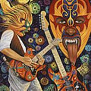 Lucha Rock Art Print