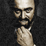 Luciano Pavarotti Art Print