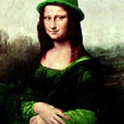 Lucky Mona Lisa Art Print