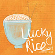 Lucky Rice Art Print by Linda Woods