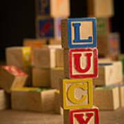 Lucy - Alphabet Blocks Art Print