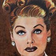 Lucille Ball Art Print by Shirl Theis