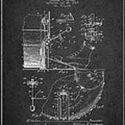 Ludwig Foot Pedal Patent Drawing From 1909 - Dark Art Print