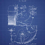 Ludwig Foot Pedal Patent From 1909 - Blueprint Art Print