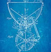 Ludwig Kettle Drum And Timpani Patent Art 1950 Blueprint Art Print