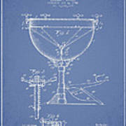 Ludwig Kettle Drum Drum Patent Drawing From 1941 - Light Blue Art Print