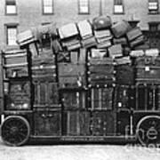 Luggage Cart At Train Station, 1910s Art Print