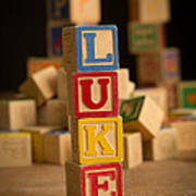 Luke - Alphabet Blocks Art Print