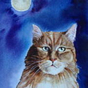 Lunar Cat Art Print