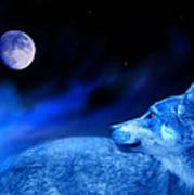 Lunar Wolf 2 Art Print