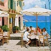 Lunch In Portofino Print by Michael Swanson