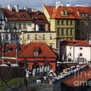 Lunch Time In Prague Art Print