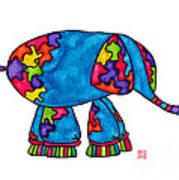 Lupita Elephant Art Print