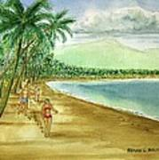 Luquillo Beach And El Yunque Puerto Rico Art Print