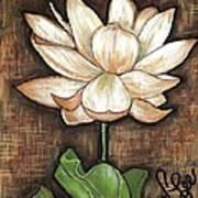 Lure Of The Lotus Art Print by VLee Watson