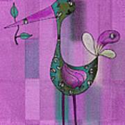 Lutgarde's Bird - 061109106-purple Art Print