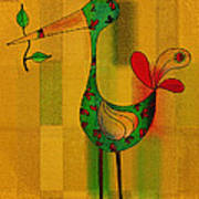 Lutgarde's Bird - 061109106-wyel Art Print by Variance Collections
