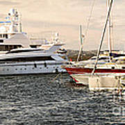 Luxury Boats At St.tropez Art Print