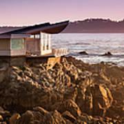 Luxury Home Overlooks The Big Sur Art Print