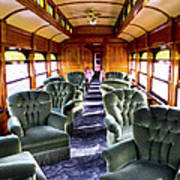 Luxury Lounge Car Of Early Railroading Art Print