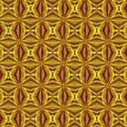 Luxury Red And Gold Christmas Kaleidoscope Art Print