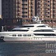 Luxury Yacht Visits Kaohsiung Port Art Print