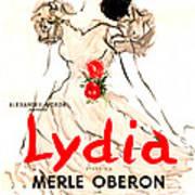 Lydia, Us Poster, Merle Oberon, 1941 Art Print