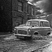 Lye Rain Storm, Ford Prefect Van - 1960's    Ref-244 Art Print