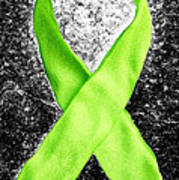 Lyme Disease Awareness Ribbon Art Print