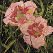 Lynda's Daylilies Art Print