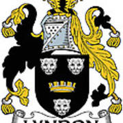 Lyndon Coat Of Arms Irish Art Print