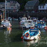 Lynmouth Harbour Devon Art Print