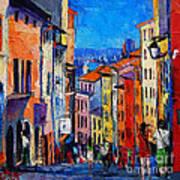 Lyon Colorful Cityscape Art Print