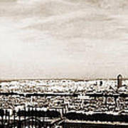 Lyon From The Basilique De Fourviere Art Print