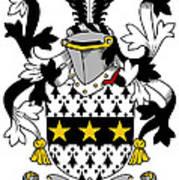 Lyster Coat Of Arms Irish Art Print