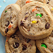M And M - Chocolate Chip - Cookies - Bakery Shop Art Print