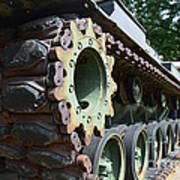 M60 Patton Artillery Tank Tread Art Print