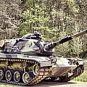 M60 Patton Tank Print by Olivier Le Queinec