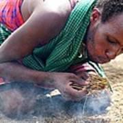 Maasai Fire Maker Art Print